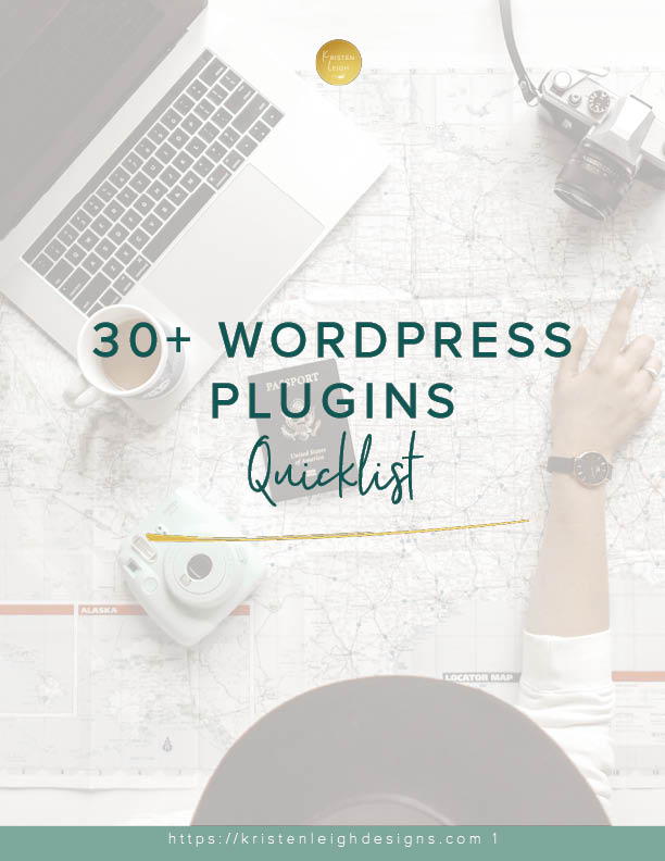 Kristen Leigh | WordPress Web Design Studio | 30+ WordPress Plugins Quicklist