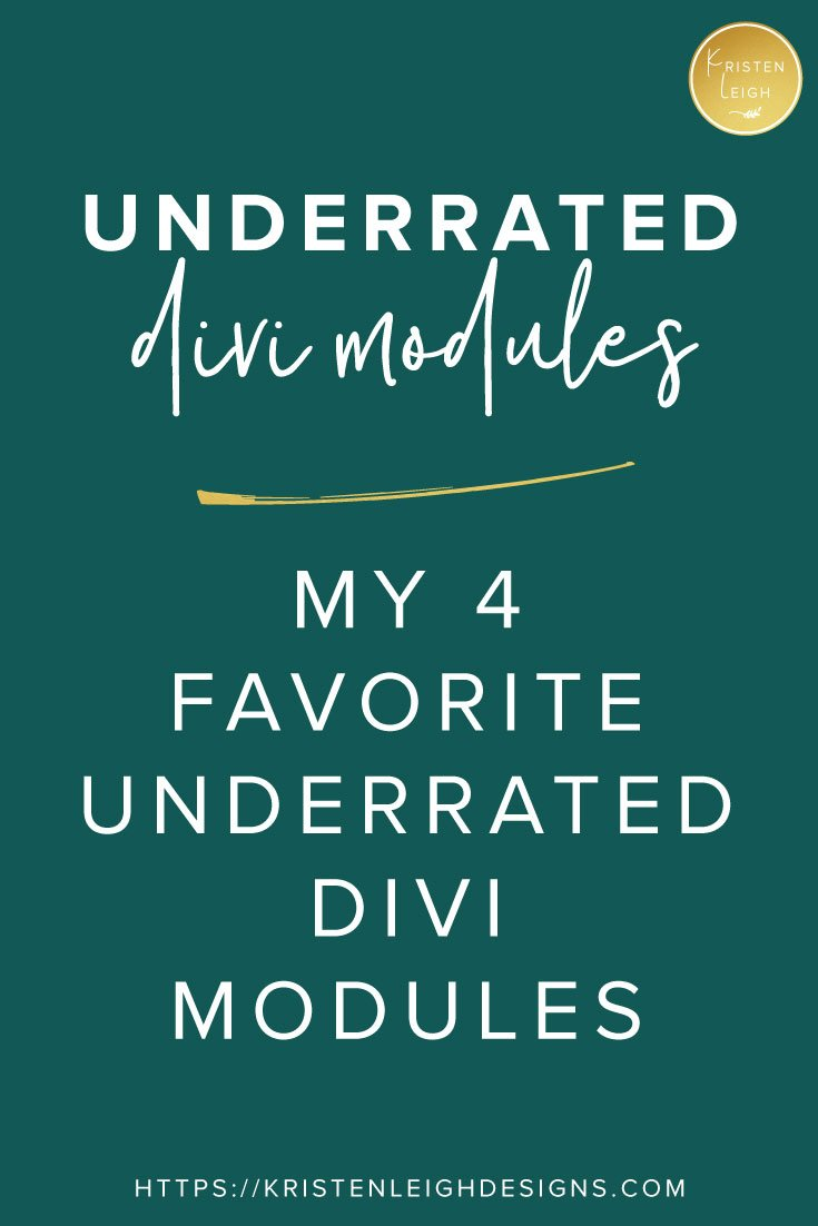 Kristen Leigh   Web Design Studio   4 Underrated Divi Modules