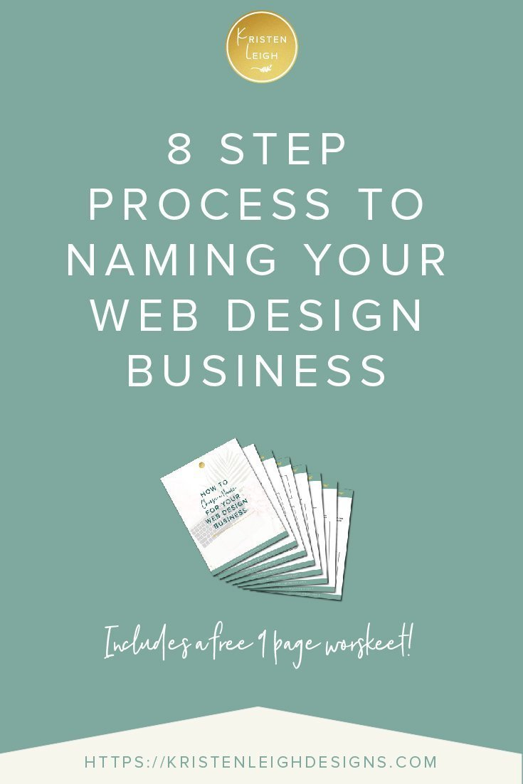 8 Step Process to Naming Your Web Design Business
