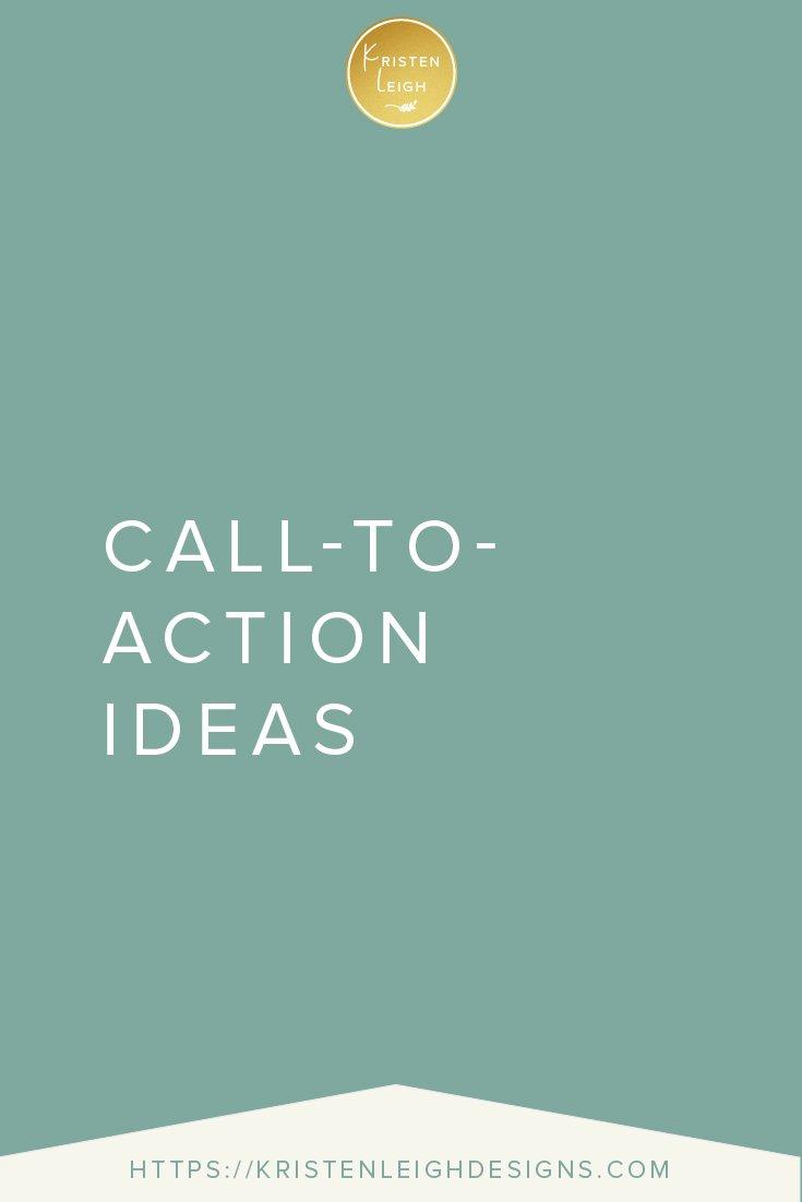 Kristen Leigh | WordPress Web Design Studio | Call-to-Action Ideas