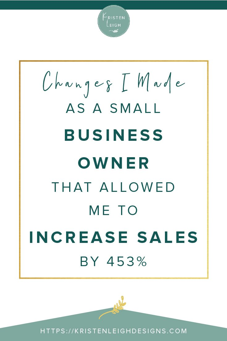 Kristen Leigh | WordPress Web Design Studio | Changes I Made as a Small Business Owner that Allowed Me to Grow My Business by 453%