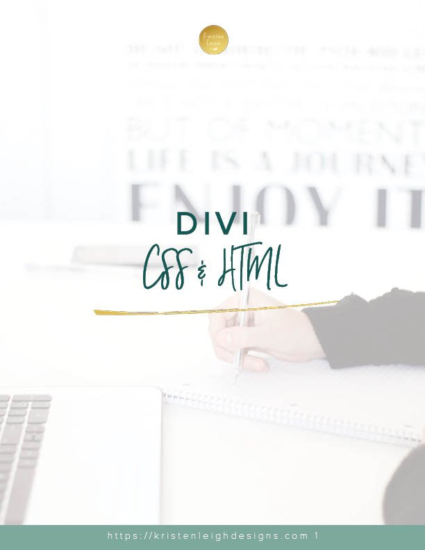 Kristen Leigh | WordPress Web Design Studio | Divi CSS + HTML