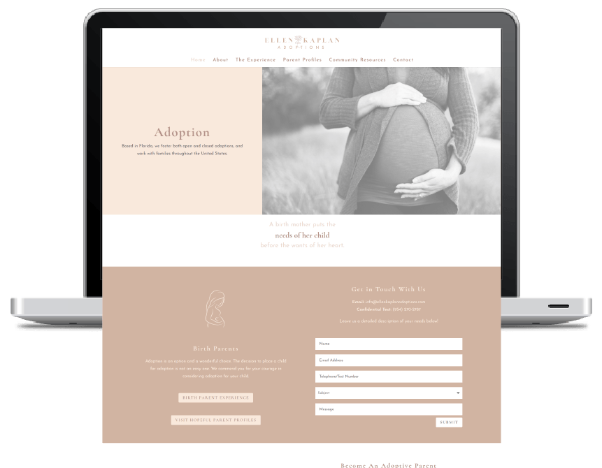 Kristen Leigh | WordPress Web Design Studio | Website Design Portfolio Piece