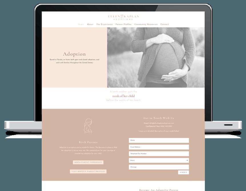Kristen Leigh | WordPress Web Design Studio | Website Design Portfolio Piece