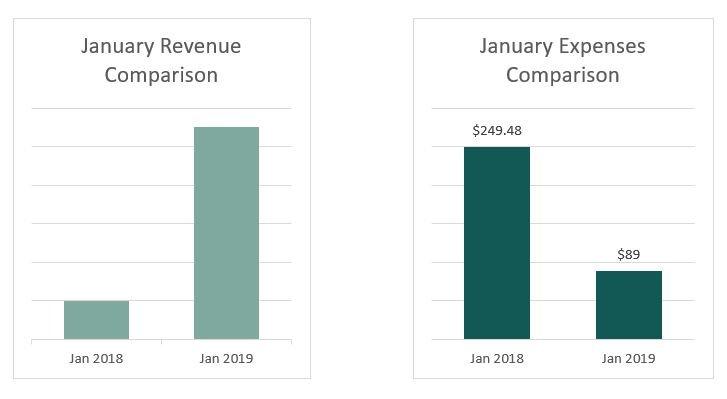 Kristen Leigh | WordPress Web Design Studio | January 2019 Review | Financial Comparison2