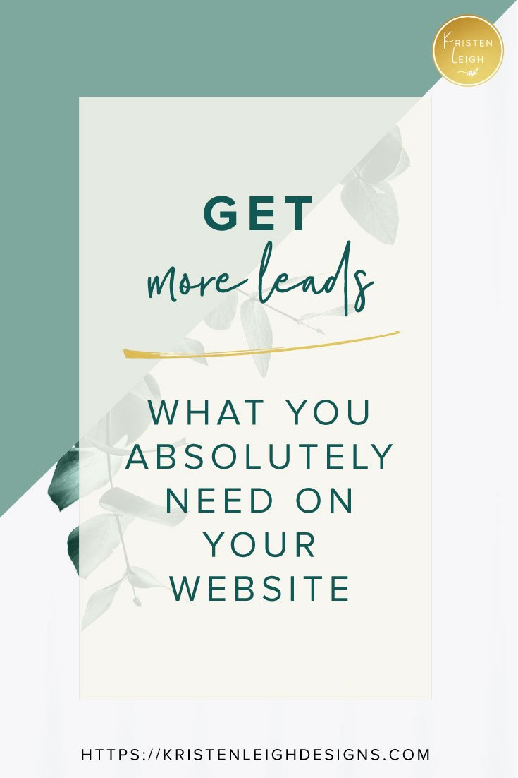 Kristen Leigh   WordPress Web Design Studio   How to Generate More Leads Through Your Website