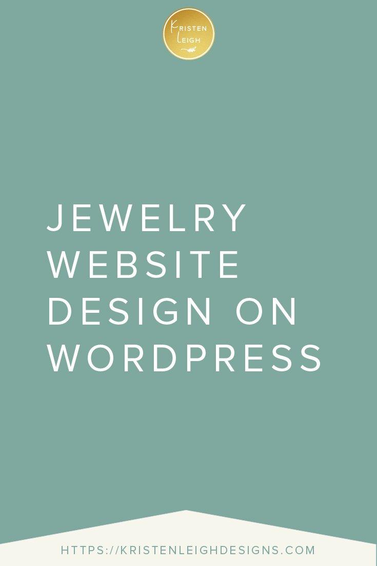 Kristen Leigh | WordPress Web Design Studio | Jewelry Website Design on WordPress
