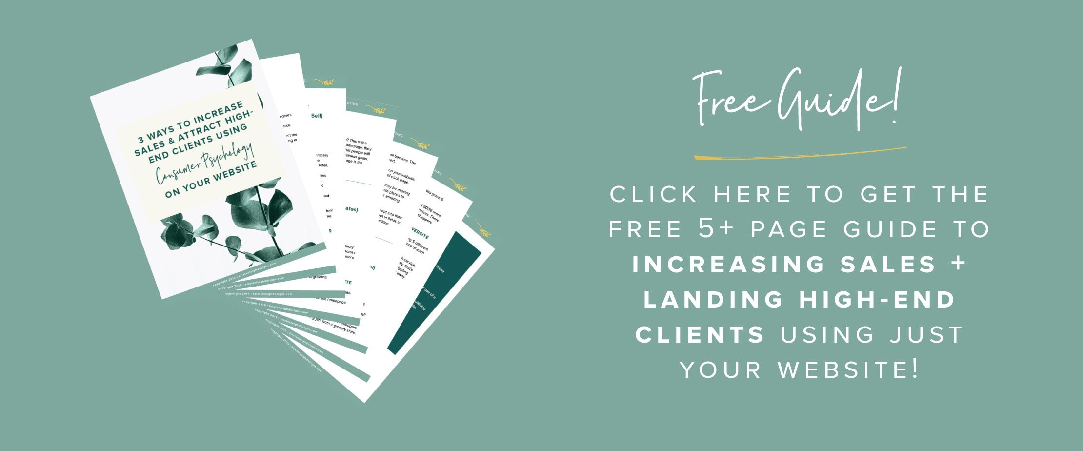 Kristen Leigh | WordPress Web Design Studio | Website Tips | Free Guide! 3 Simple Website Updates to Increase Sales and Land High-End Clients