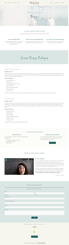 Kristen Leigh | WordPress Web Design Studio | Meraki Leigh Digital Portfolio Piece | Online Course Design Page