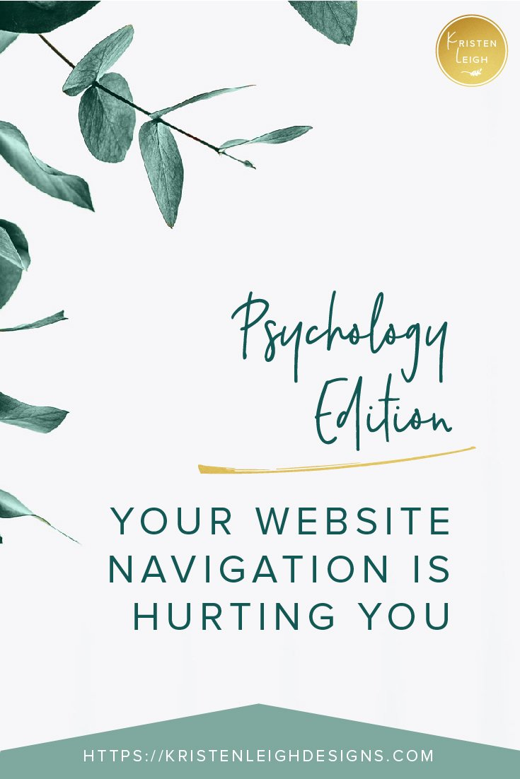 Kristen Leigh | WordPress Web Design Studio | Psychology Edition Your Website Navigation is Hurting You