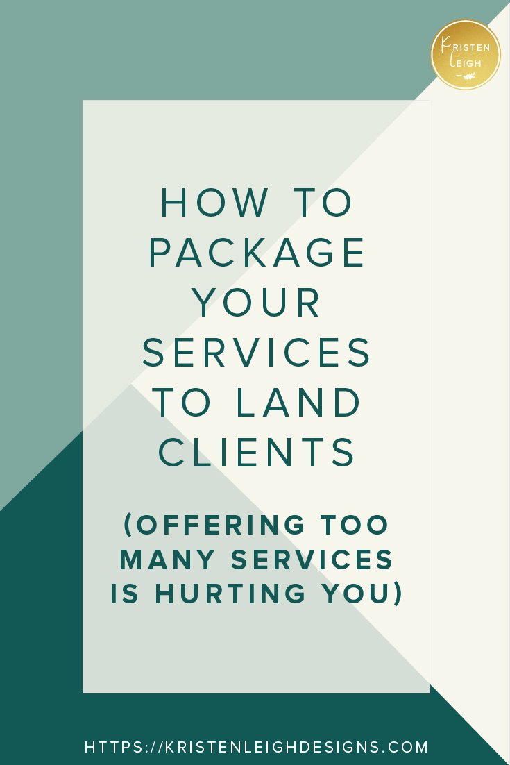 Kristen Leigh | WordPress Web Design Studio | Psychology Edition | How to Package Your Services to Land Clients | Offering Too Many Services Is Hurting You