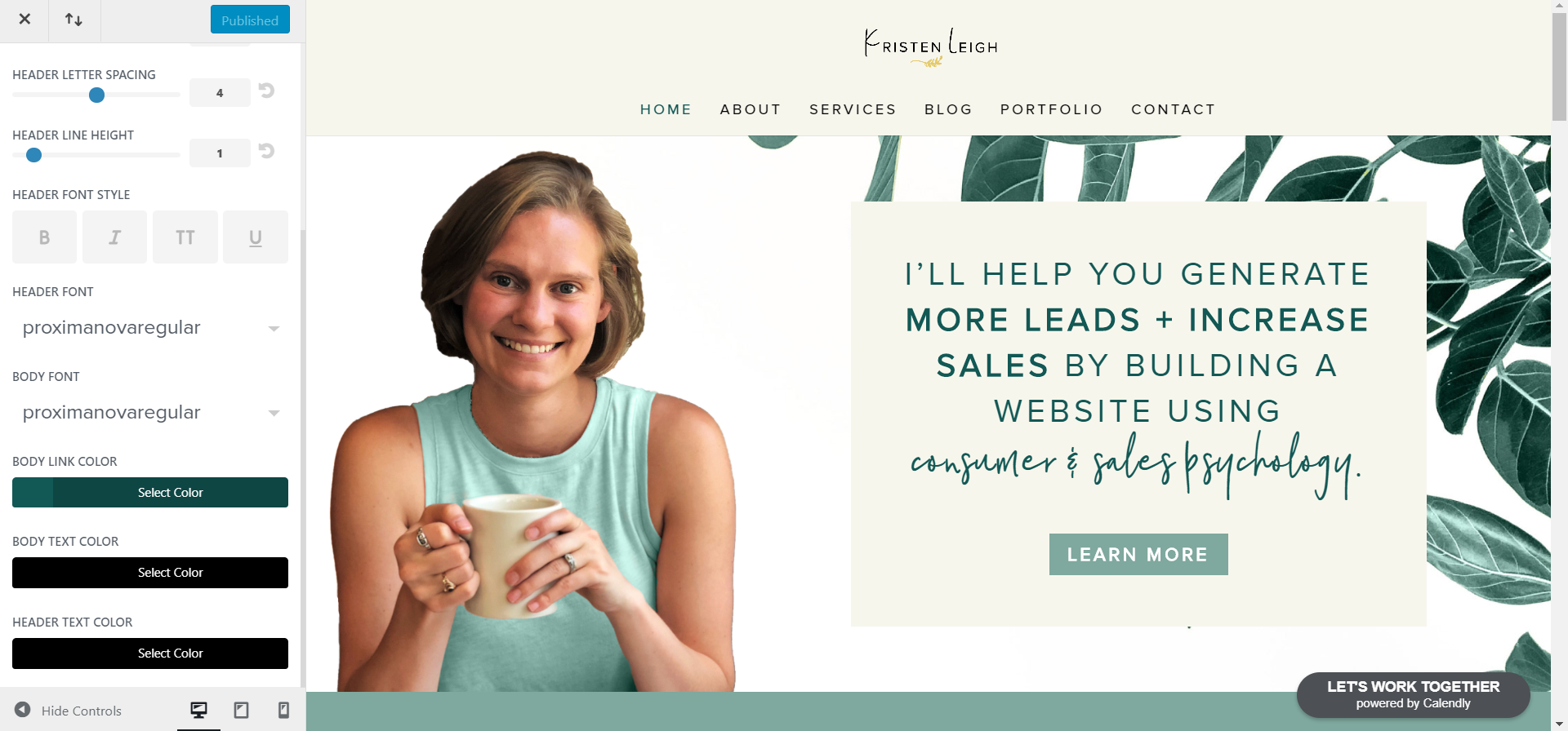 Kristen Leigh | Web Design Studio | How to Quickly Build a Divi Website | Typography Settings