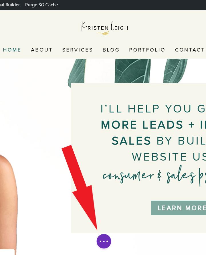Kristen Leigh | Web Design Studio | How to Quickly Build a Divi Website | Menu