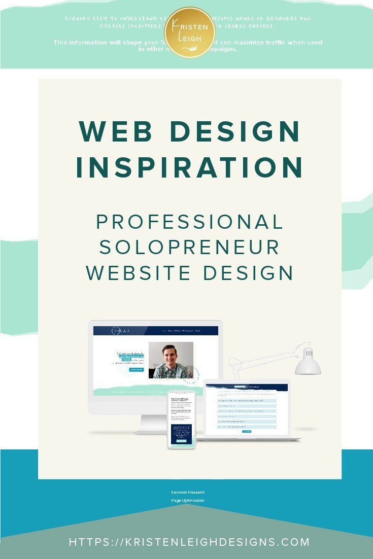 Kristen Leigh | WordPress Web Design Studio | Web Design Inspiration Professional Solopreneur Website Design