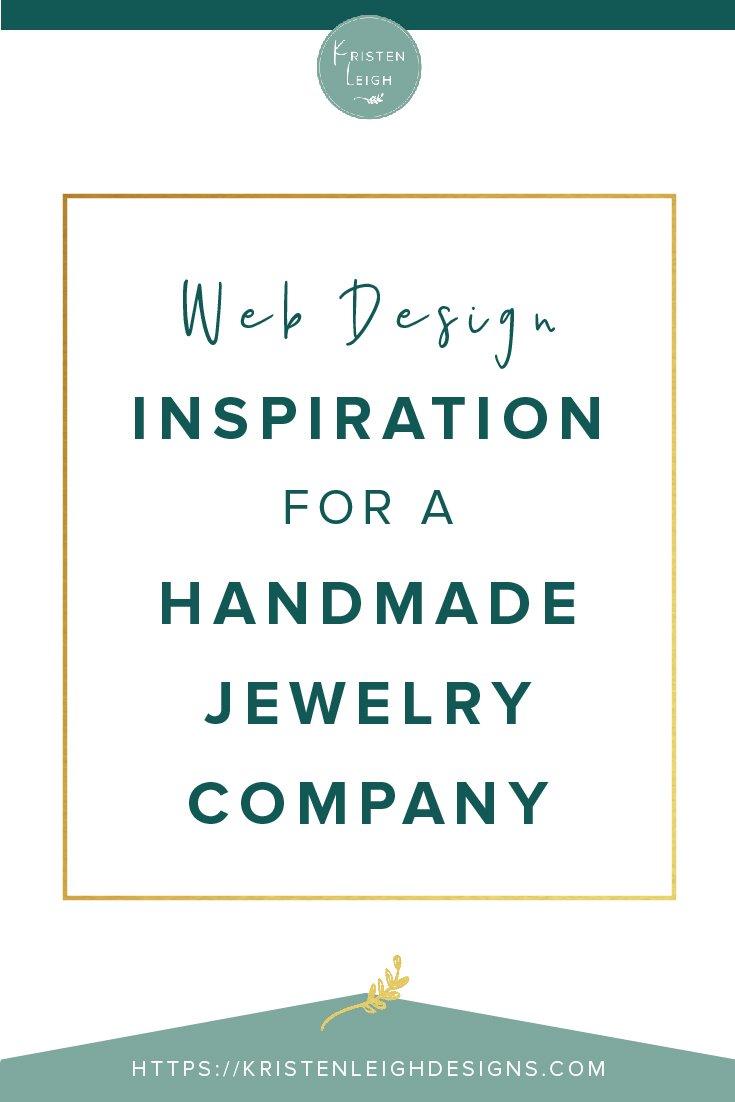 Kristen Leigh | WordPress Web Design Studio | Web Design Inspiration for a Handmade Jewelry Company