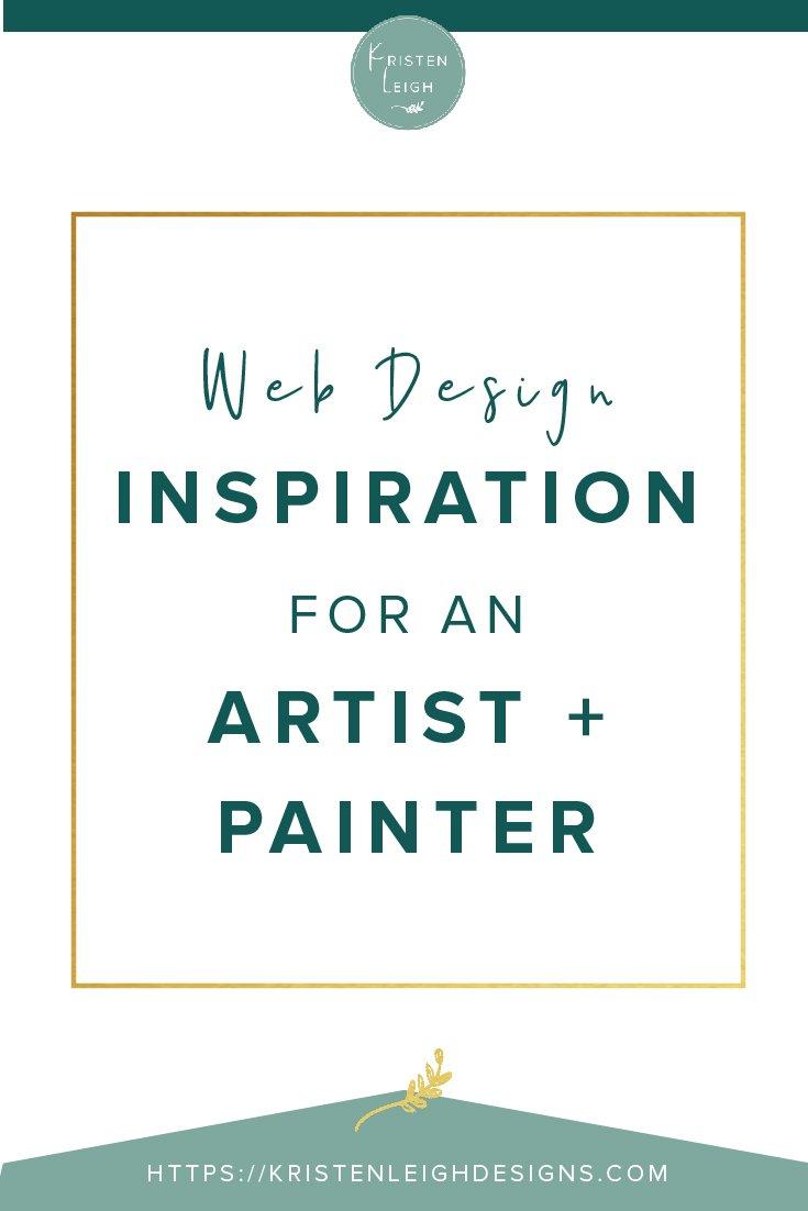 Kristen Leigh   WordPress Web Design Studio   Web Design Inspiration for an Artist and Painter