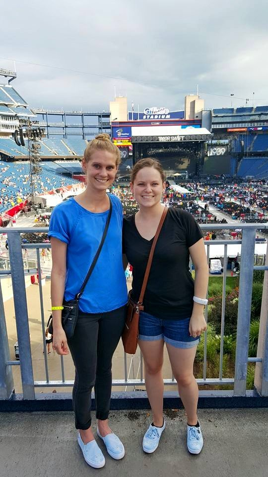 Katie and I at the TS concert