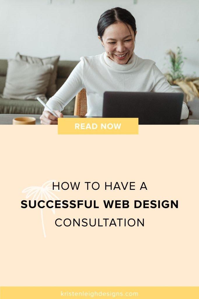 Successful Web Design Consultation | Blog Post Image | Kristen Leigh