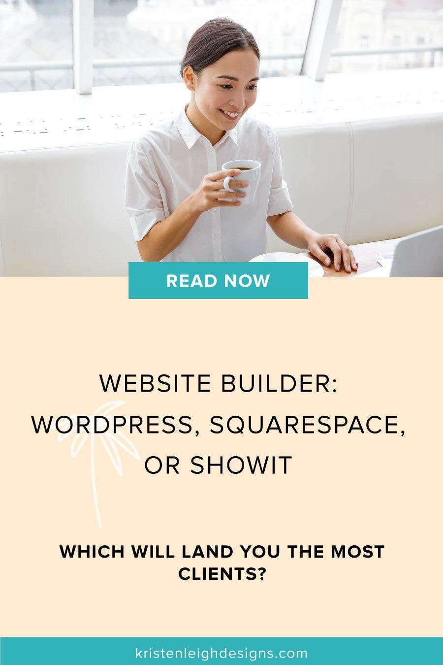 WordPress vs Squarespace | Blog Post Graphic | Kristen Leigh